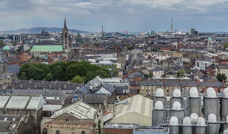 360° Panoramablick auf Dublin