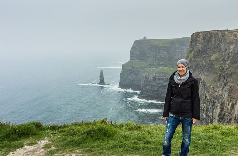 Ich an den Cliffs of Moher
