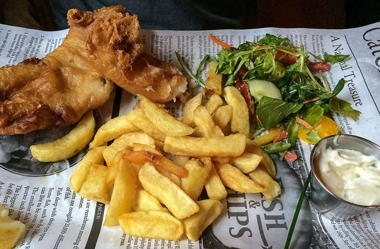 Fish & Chips in Fitzpatrick's Bar