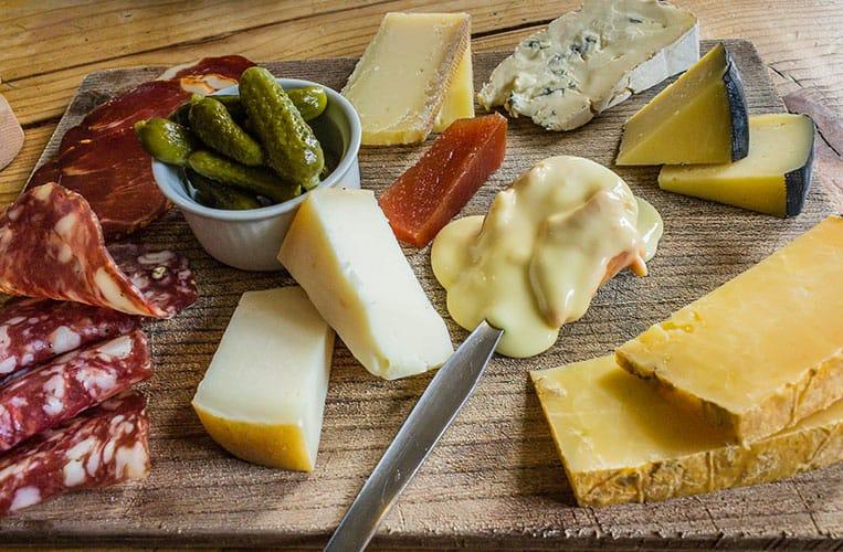 Käseplatte bei Sheridans Cheesemongers