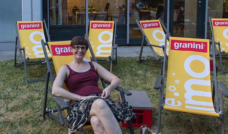 Tanja von Takly on Tour ganz entspannt