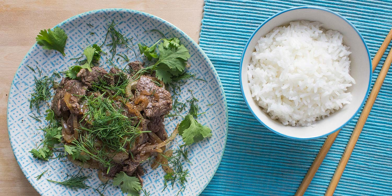 Vietnamesisches Rindfleisch mit Dill