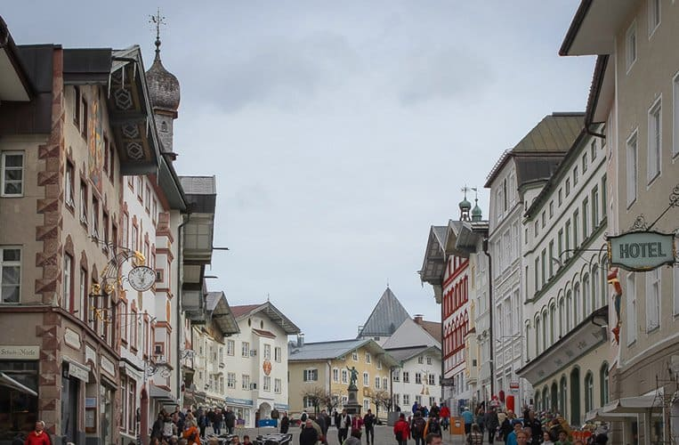 Die Marktstrasse in Bad Tölz