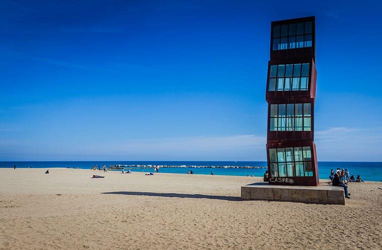 Der Strand in La Barceloneta
