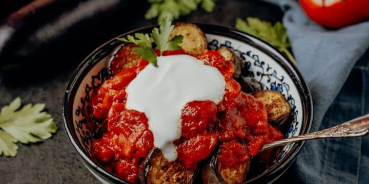 Gebratene Auberginen mit Joghurt – Türkisches Meze Rezept