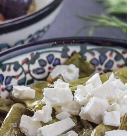 Türkische Mezze: Grüne Bohnen aus dem Ofen mit Feta