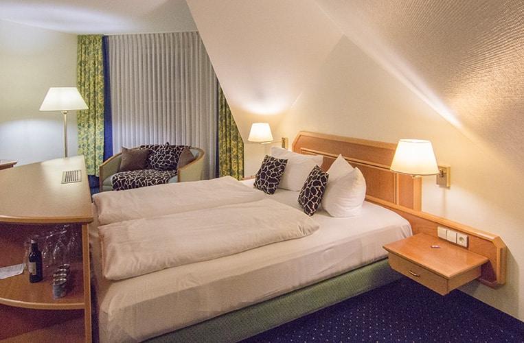 großzügige Zimmer im Sunderlandhotel