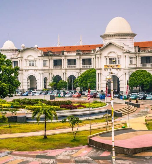 Der Bahnhof in Ipoh, Malaysia