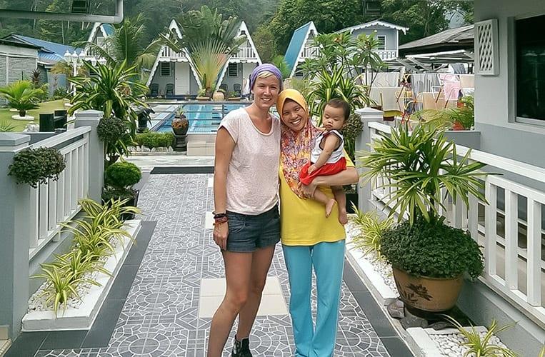mit Alicia und ihrem zuckersüßen Sohn