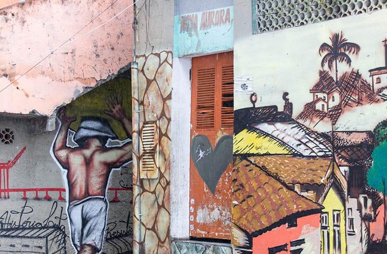 Mural in der Favela Morro da Providência