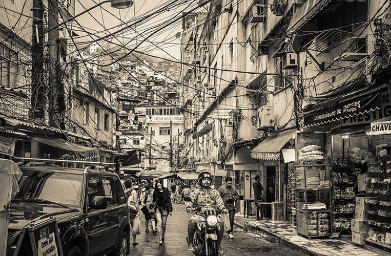 In den Strassen von Rocinha