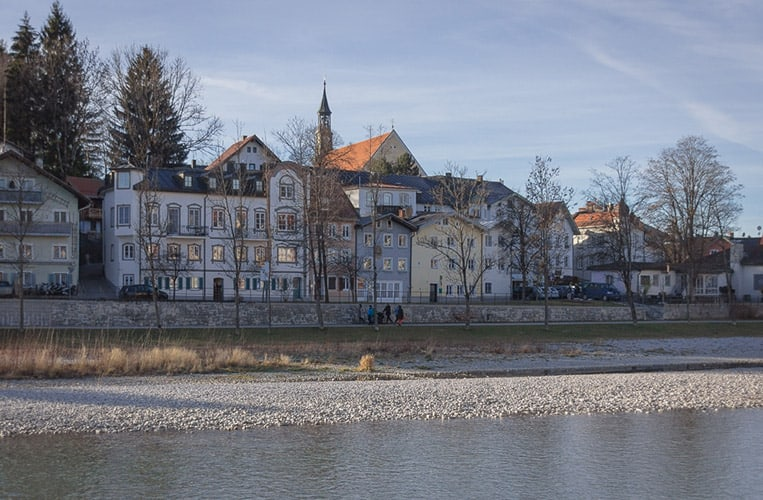 Die Isar in Bad Tölz