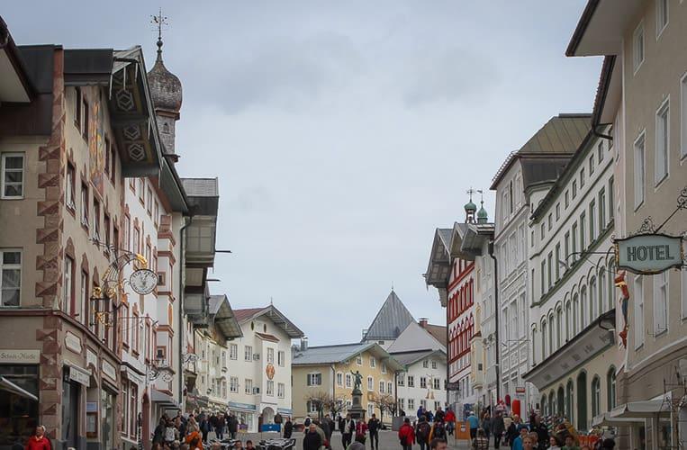 Die Marktstrasse in Bad Tölz