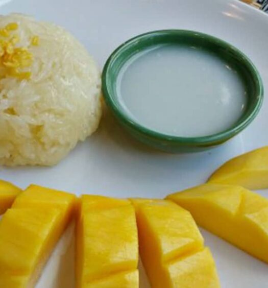 Thailändischer Sticky Rice with Mango
