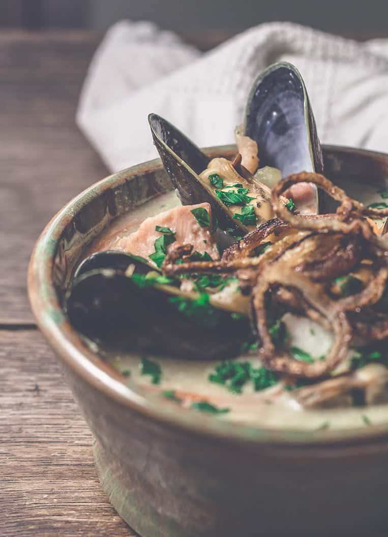 Seafood Chowder aus Nordirland