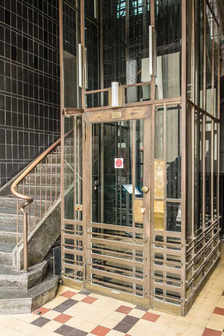 Aufzug im Haus der Buchdrucker