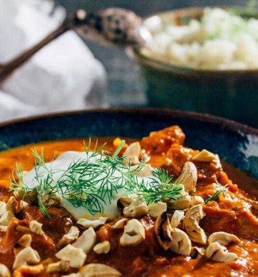 Chicken Tikka Masala mit Dillreis