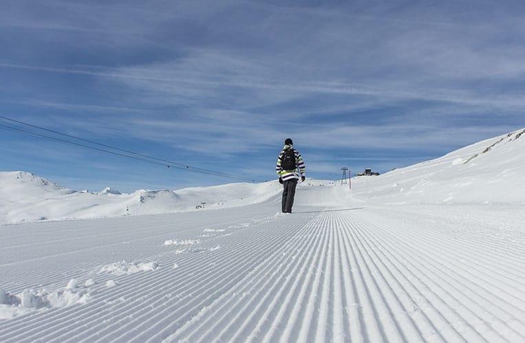 Winterwanderung vom Crap Sogn Gion nach Crap Masegn
