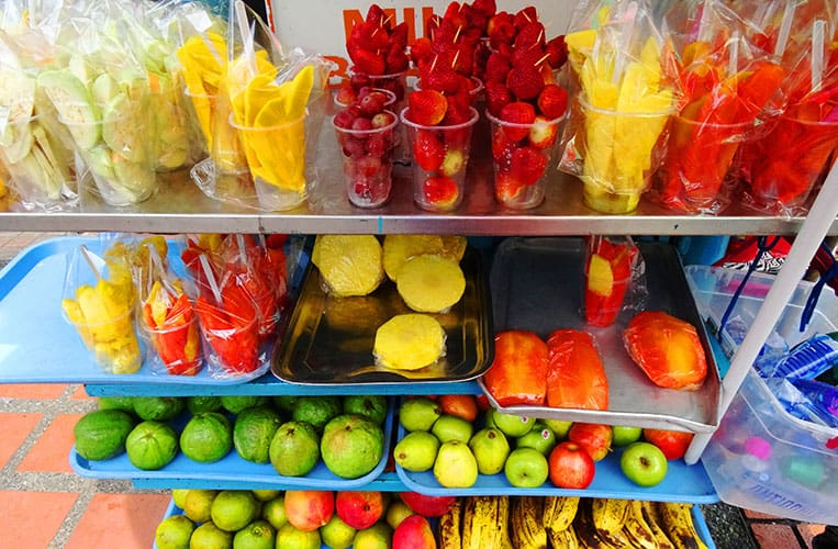 Früchte- und Shakeparadies in Bogotá