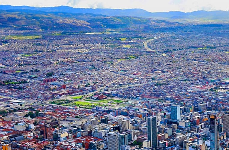 Ausblick von Monserrate über Bogotá