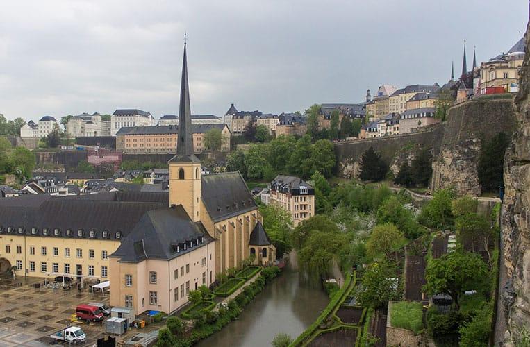 Ausblick von den Bock-Kasematten in Luxemburg Stadt