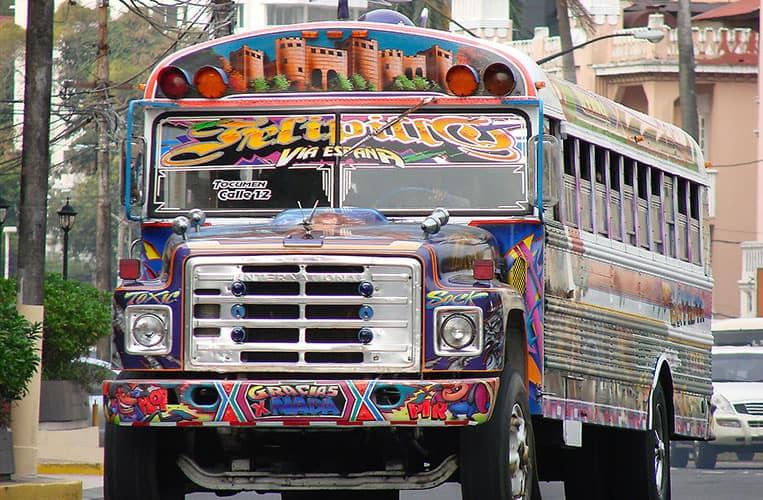 Bus in Panama, Südamerika