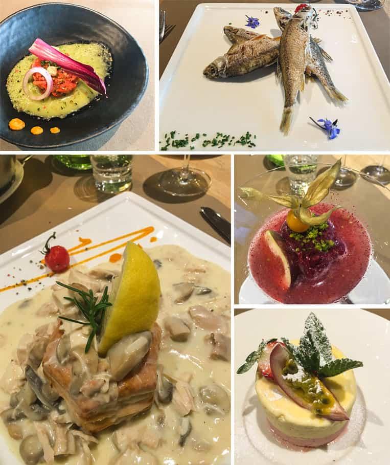 Das Essen im Restaurant Pier 29, Stadtbredimus in Luxemburg