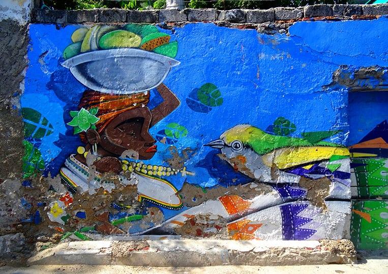 Streetart in Cartagena de Indias