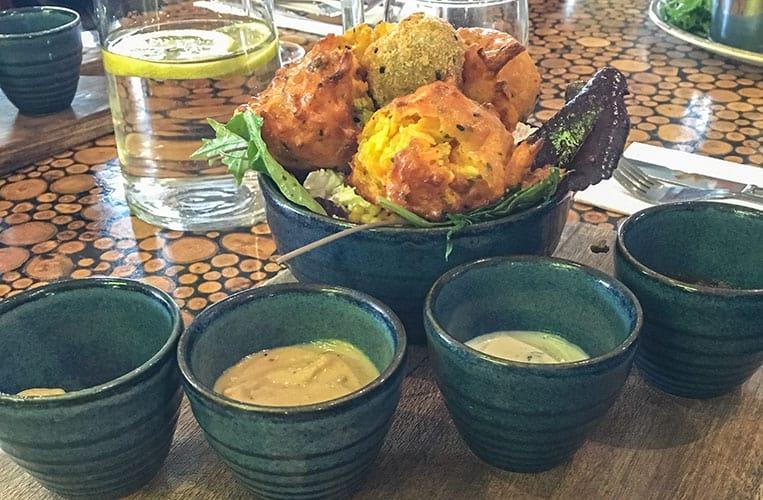 Falafel im The Egg Café - Avoca