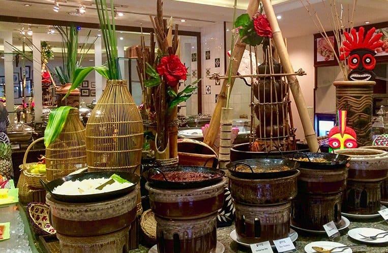 Das Frühstück im Hotel Equatorial Melaka