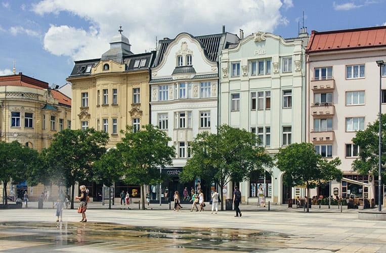 Der Marktplatz von Ostrava
