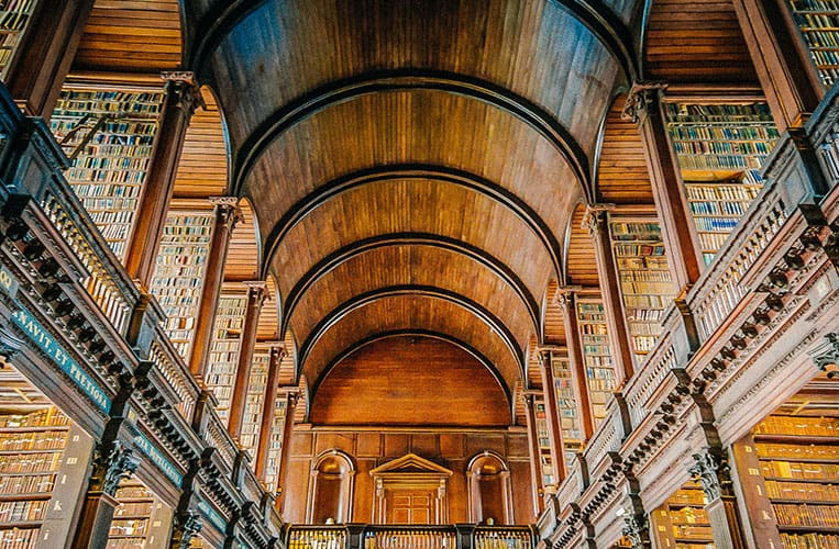 Der Long Room, Trinity College, Dublin, Irland