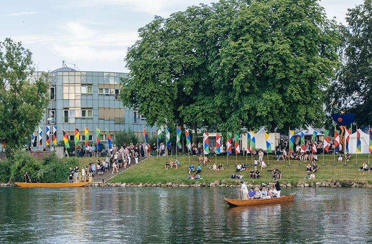 Von Ufer zu Ufer mit der Zille am Donaufest in Ulm