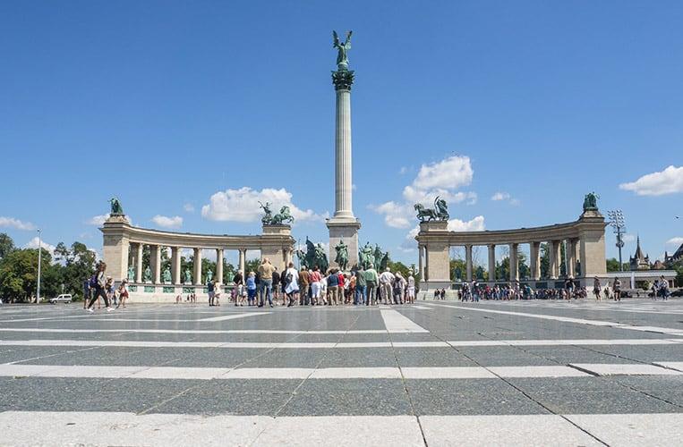 Der Heldenplatz in Budapest