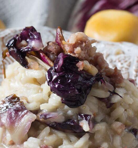 Italienisches Rezept für Risotto mit Salsicce und Radicchio