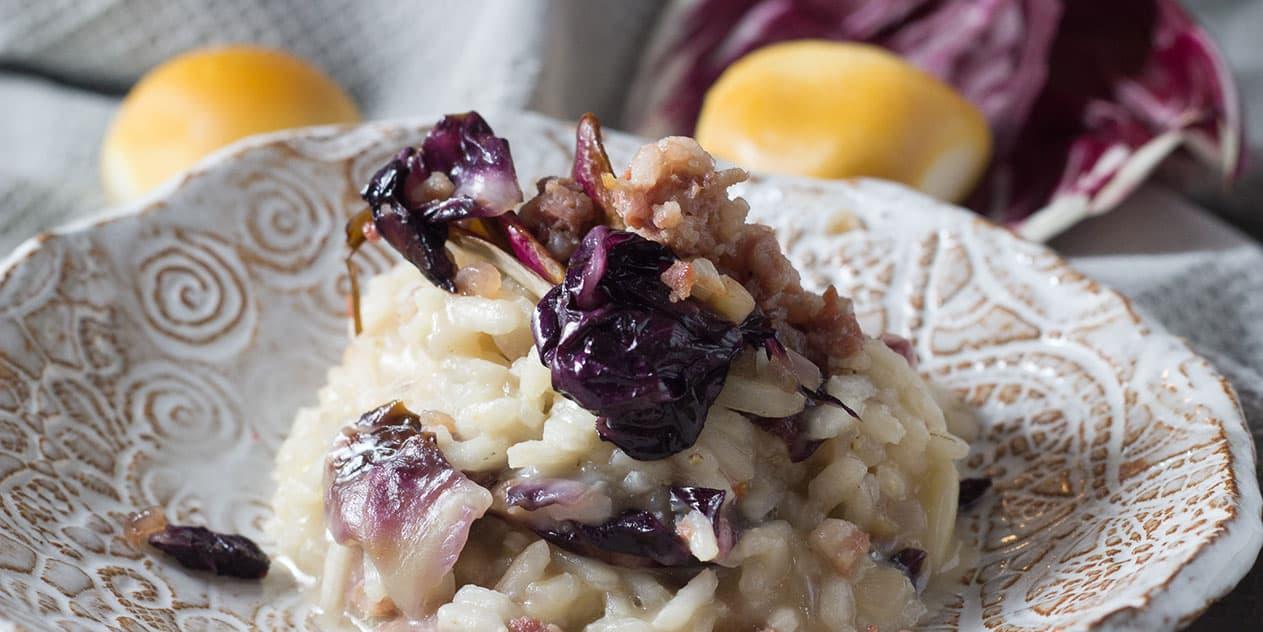 Risotto mit Salsicce und Radicchio | Rezept aus Italien