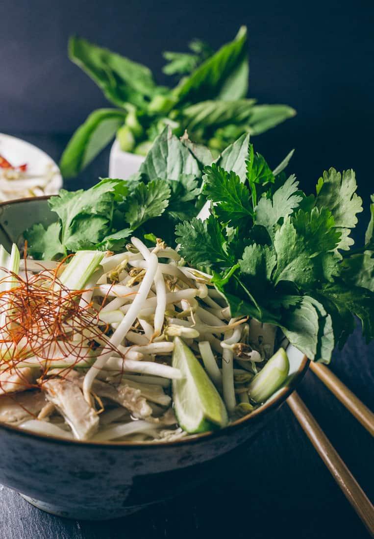 Pho Ga – Vietnamesische Nudelsuppe mit Huhn
