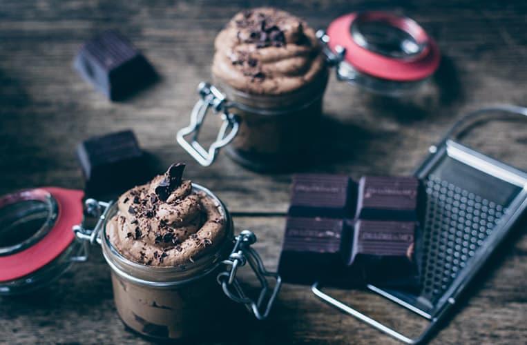 Dunkles Toblerone Schokoladenmousse