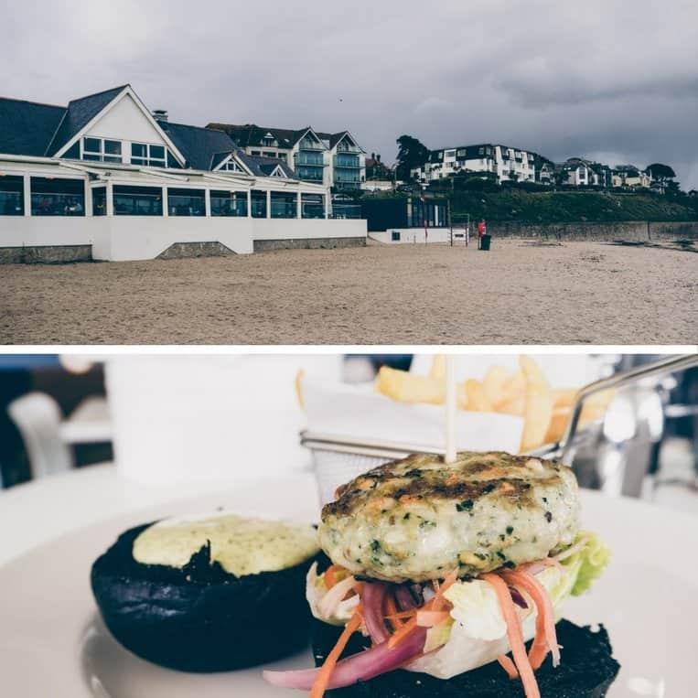 Gylly Beach Cafe am Gyllyngvase Beach in Falmouth, Cornwall