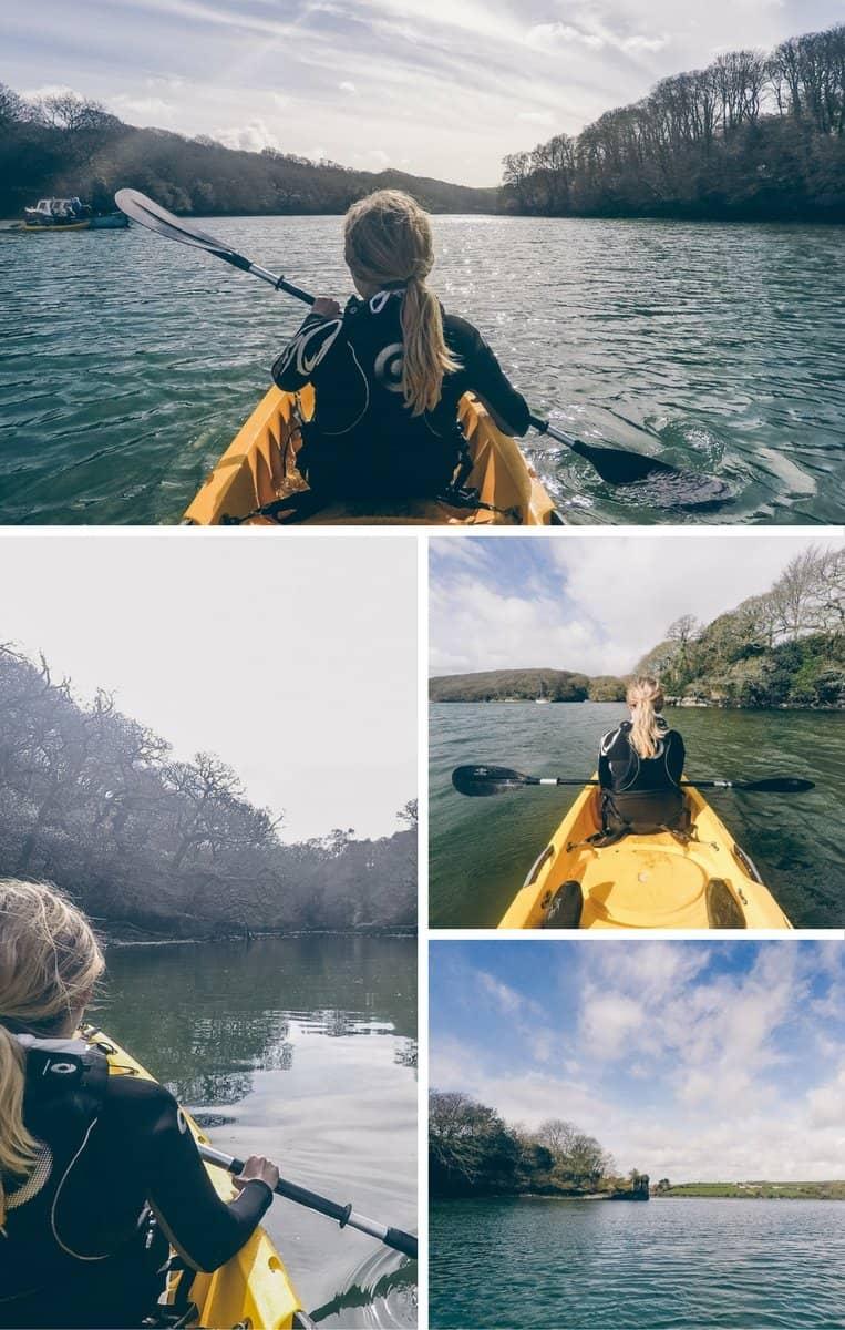 Mit dem Kajak unterwegs auf dem Helford River in Cornwall