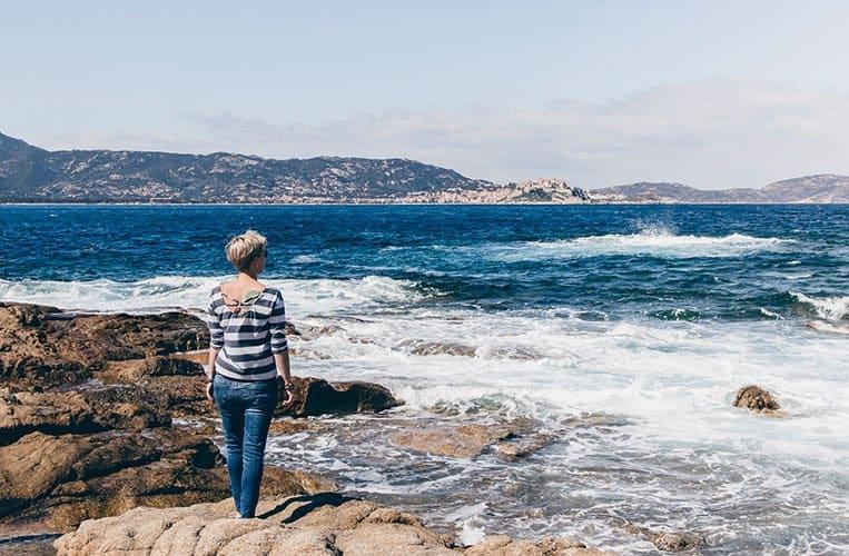 Der Plage de l'Arinella, Korsika