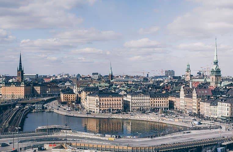 Ausblick von Katarinahissen in Södermalm, Stockholm