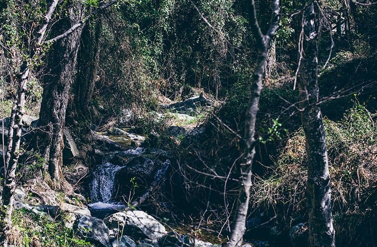 auf dem Weg zum Kaledonia-Wasserfall, Zypern