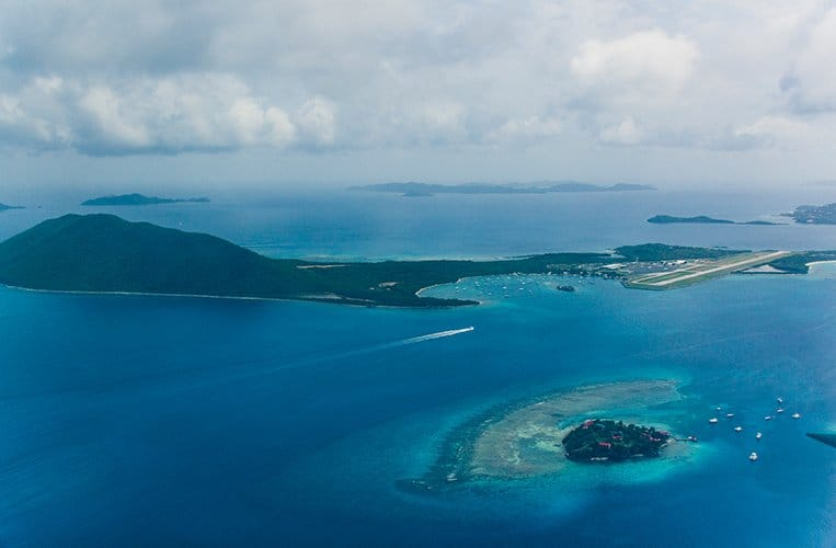 Anflug auf die British Virgin Islands