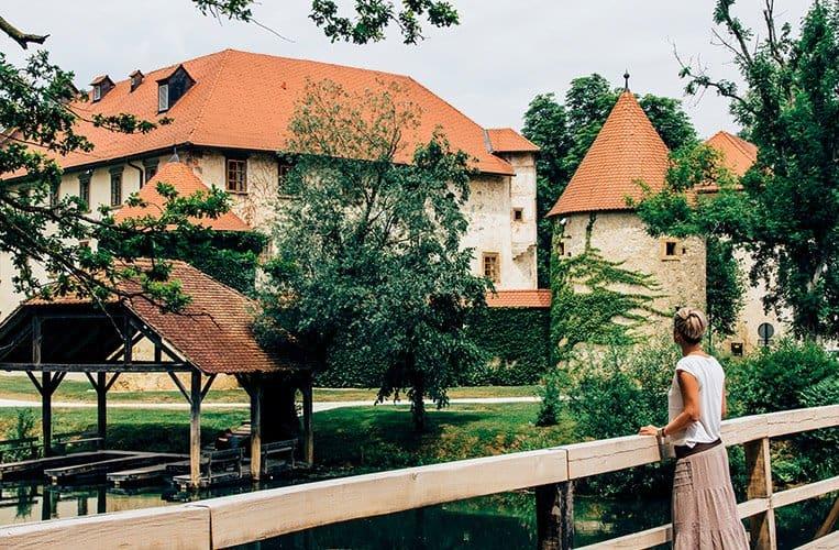 Das Schloss Otočec, Slowenien