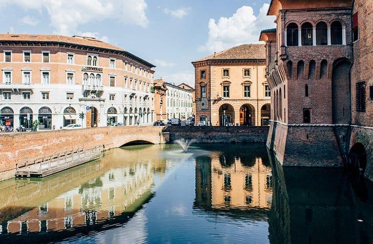 Das Castello Estense in Ferrara