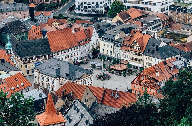 Ausblick von der Plassenburg in Kulmbach
