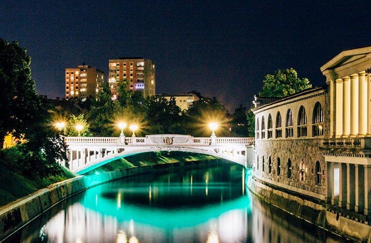 Nachts in Ljubljana