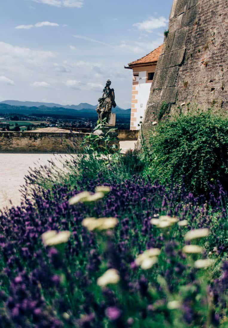 Das Schloss Ptuj, Slowenien