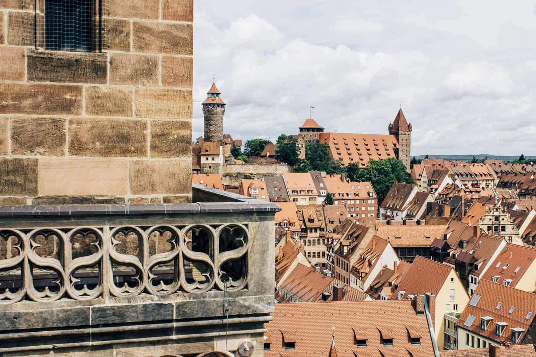 Ausblick von der Kirche St. Sebald